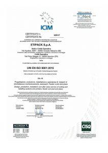 Сертификат ISO Etipack