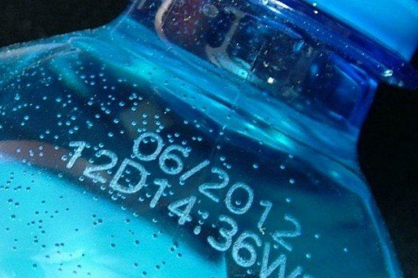 Фото лазерного маркування ПЭТ пляшки