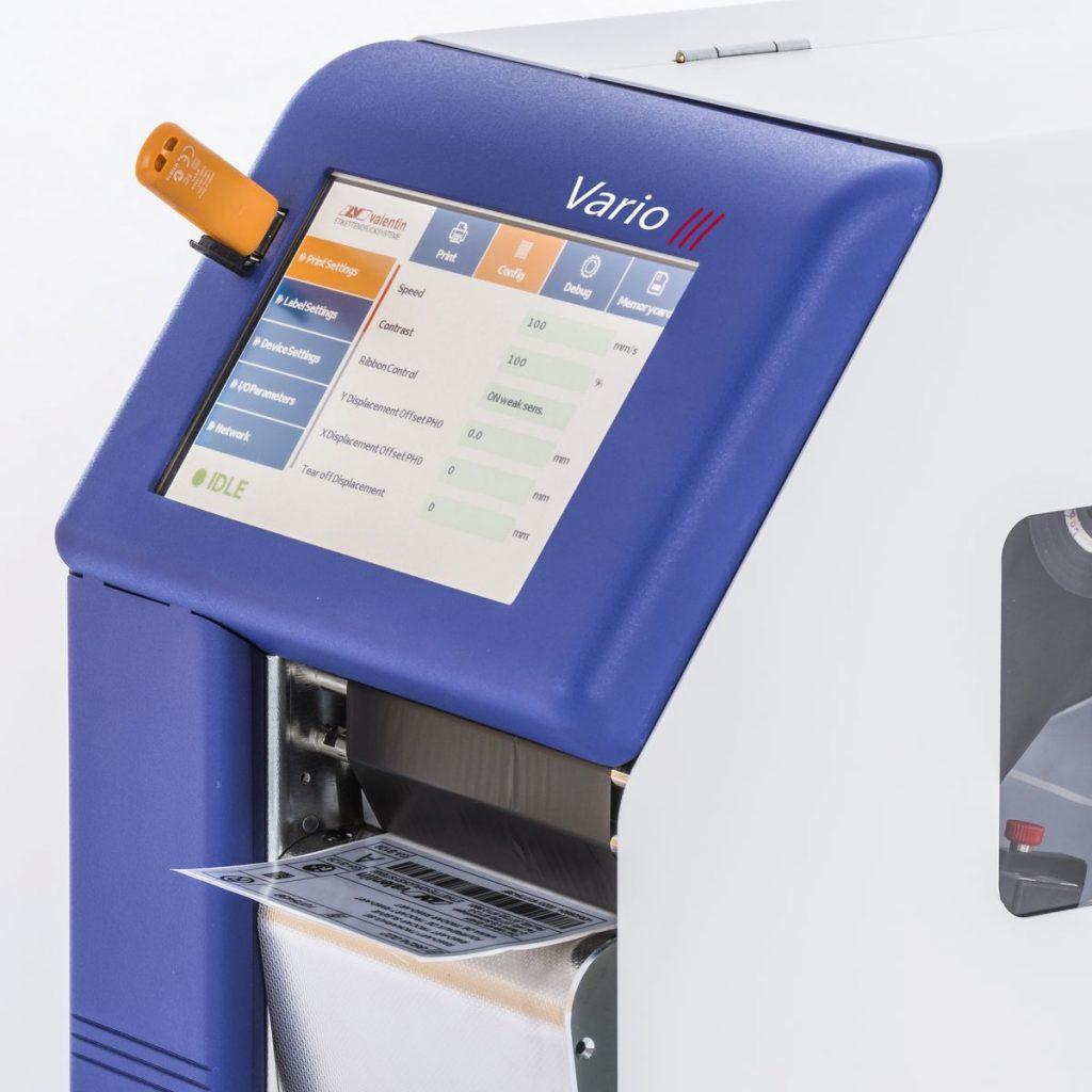 Термотрансферний принтер Carl Valentin Vario III з сенсорним дисплеєм