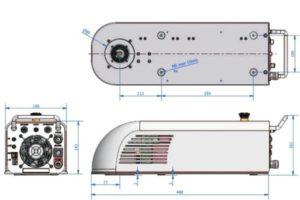 Розміри лазерного маркувальника eMark DL