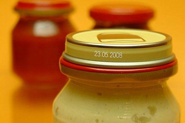 Образец лазерной маркировки на крышке с консервацией