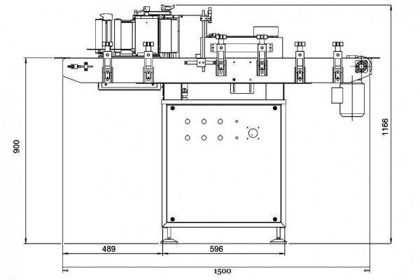 Система для этикетирования цилиндрических продуктов Etipack System 1 Twist - вид сбоку