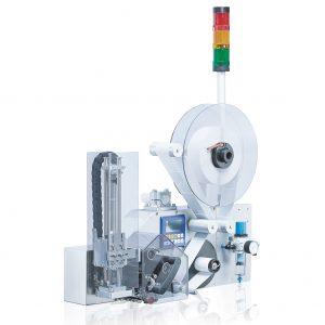Принтер аппликатор самоклеющихся этикеток с модулем пневмопереноса