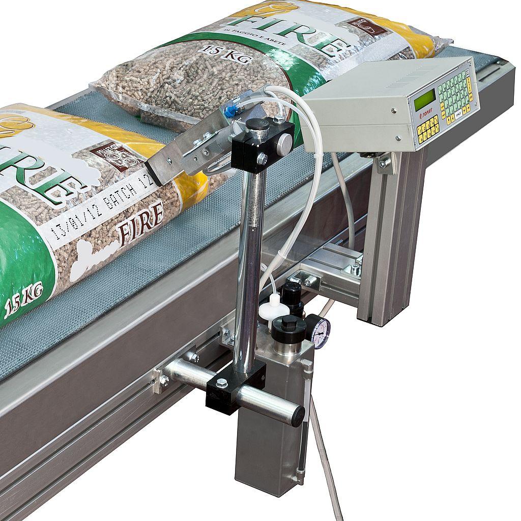 Topjet KT16 - маркировка мешков со строительными смесями