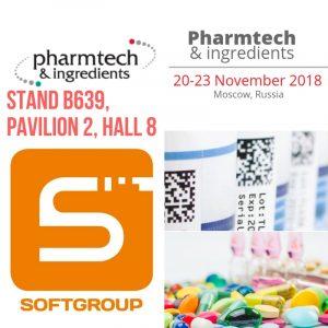 Pharmtech & Ingredients стенд компанії Softgroup