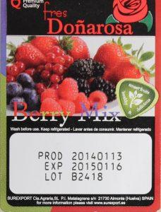 Лазерная маркировка на упаковке фруктов