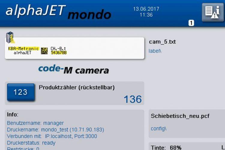 просмотр результатов работы системы считывания непосредственно на экране каплеструйного маркиратора