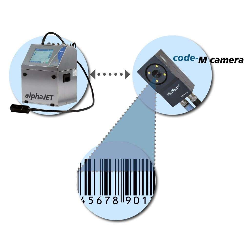 Система одновременной печати и проверки маркировки alphaJET mondo Code-M Camera