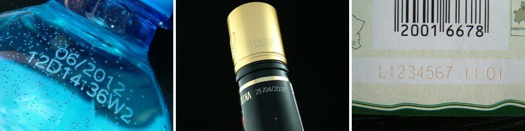 Маркировка даты производства и номера партии на вине и соках лазерным маркиратором