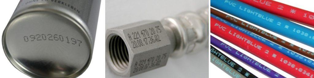 Каплеструйная маркировка на металле, кабеле, аэрозольных балончиках
