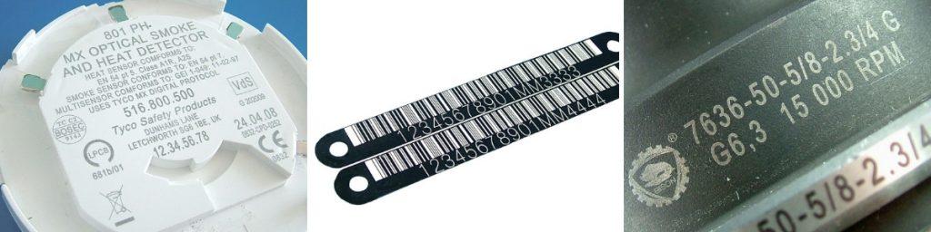 Примеры маркировки оптоволоконным лазером