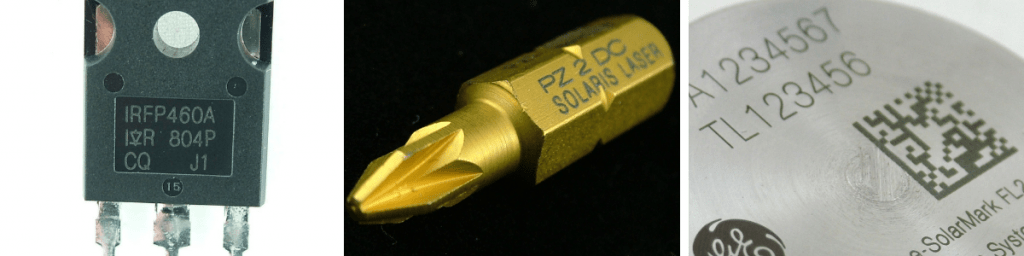 маркировка орптоволоконным лазером пластика и металла
