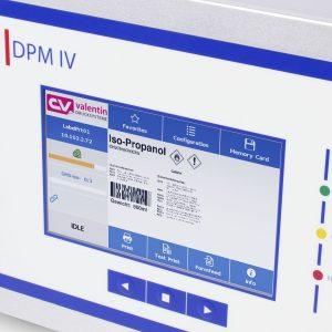 Предварительній просмотр этикетки на контрольном блоке маркиратора DPM IV